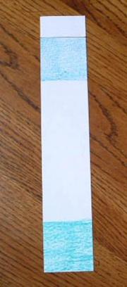 лист бумаги размером 30см на 5см