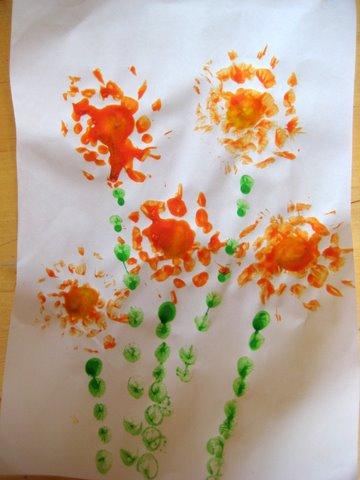 Цветочная поделка. Оригинальный рисунок. своими руками мастер класс