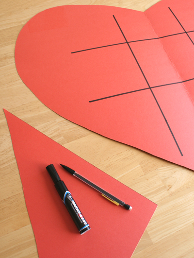 Сердечки на день Святого Валентина своими руками.Игра крестики-нолики мастер класс