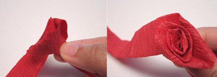как сделать розу из гофрированной бумаги своими руками мастер класс