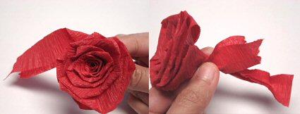Роз из гофрированной бумаги своими руками мастер