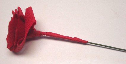 мастер класс как сделать розу из гофрированной бумаги своими руками поделка для детей