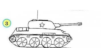 как легко нарисовать танк