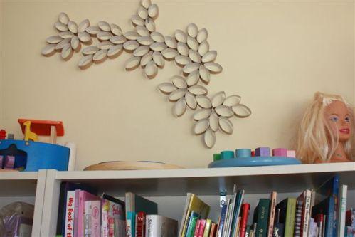 Цветы на стену своими руками