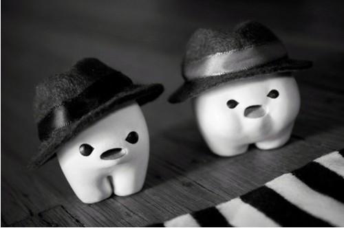 Зубные картинки. Человечки из зубов.