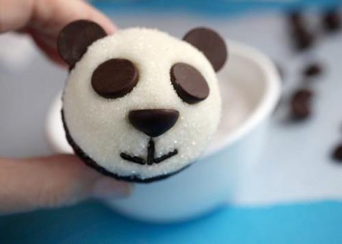 """Оформление детских тортов - Креативные кексы """"Панда"""" (9)"""