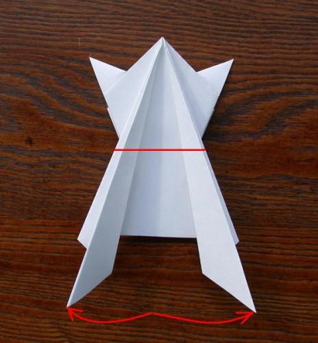 Лягушка оригами (3)