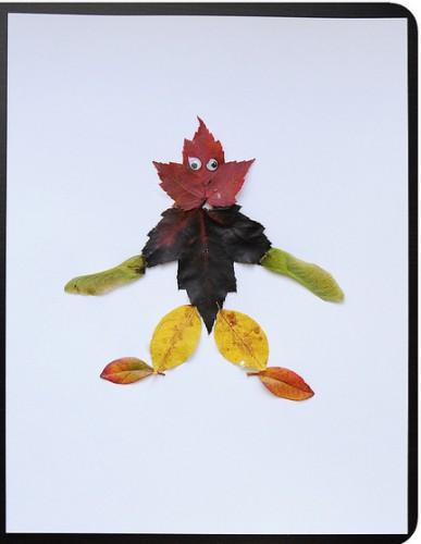 поделки +из осенних листьев
