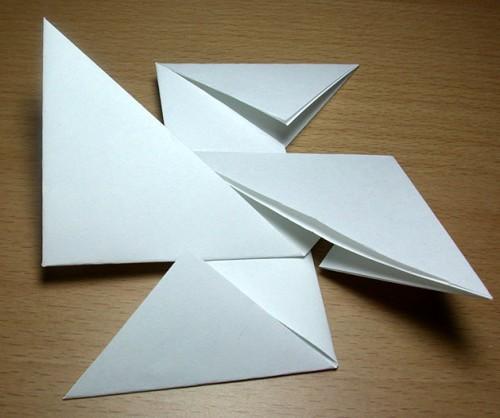 Как сделать из бумаги звезду (5)