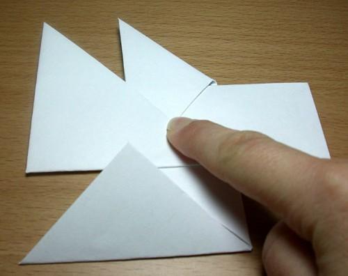 Как сделать из бумаги звезду (4)