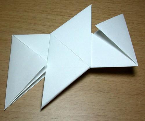 Как сделать из бумаги звезду (2)
