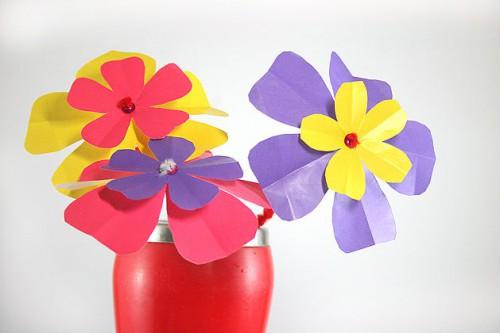 Бумажный цветок своими руками (5)