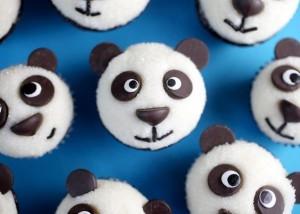 """Оформление детских тортов - Креативные кексы """"Панда"""" (1)"""