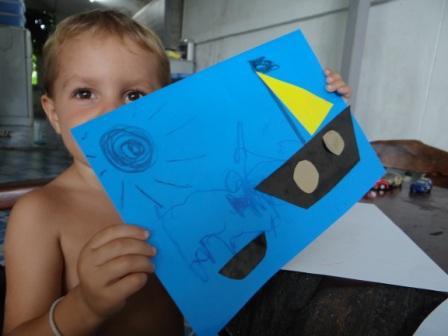 Поделка из цветной бумаги для детей 3-х лет