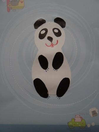 Детеныш панды - аппликации животных (3)