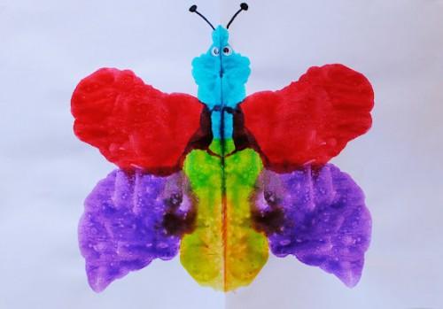 Как рисовать дома - Бабочка красками (1)