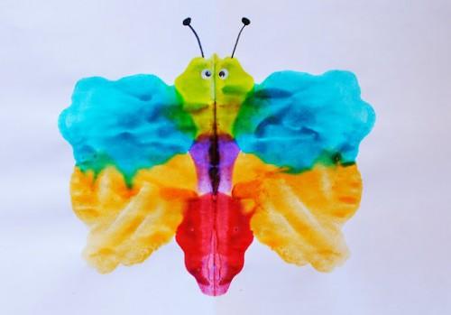 Как рисовать дома - Бабочка красками (2)