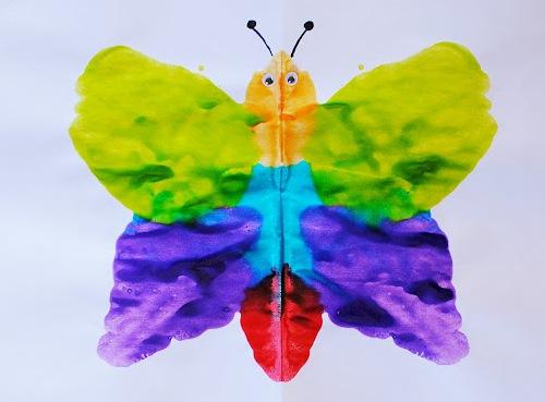 Как рисовать дома - Бабочка красками (3)