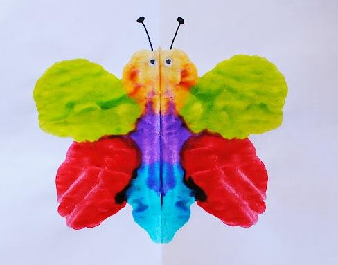 Как рисовать дома - Бабочка красками (4)