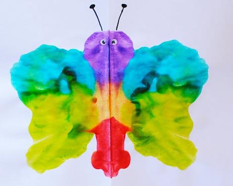 Как рисовать дома - Бабочка красками (5)