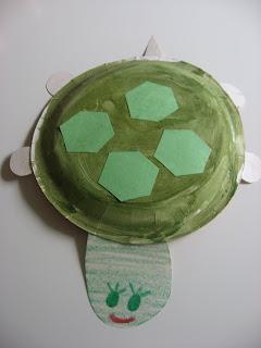 Поделка Черепаха из бумажной тарелки (1)