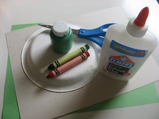 Поделка Черепаха из бумажной тарелки (2)