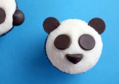 """Оформление детских тортов - Креативные кексы """"Панда"""" (7)"""