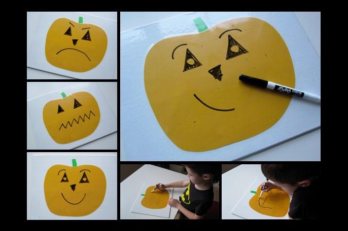 Поделки на Хеллоуин - Светильник Джека в бумажном исполнении (6)