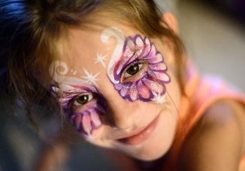 Детский грим - раскрасить лицо на Хэллоуин (5)