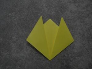 Как сделать цветы оригами - оригами тюльпан схема (12)
