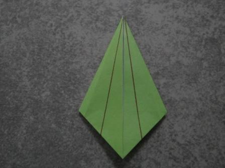 Как сделать цветы оригами - оригами тюльпан схема (10)