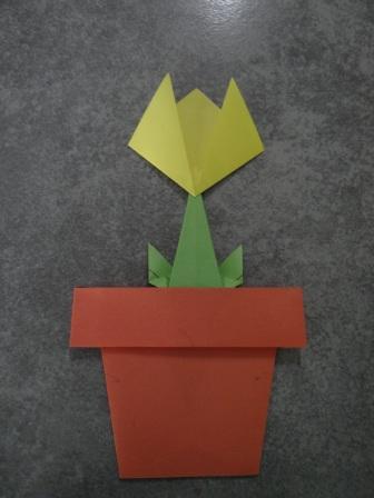 Как сделать цветы оригами - оригами тюльпан схема (2)
