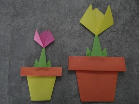 Как сделать цветы оригами - оригами тюльпан схема Поделки для детей Я поскромничал: из (flash-презентаций с...