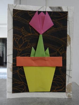 Как сделать цветы оригами - оригами тюльпан схема (1)