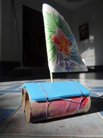 Как сделать катамаран - кораблик из бумаги своими руками (1)