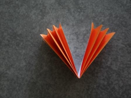 Оригами цветы для начинающих - Подсолнух (9)