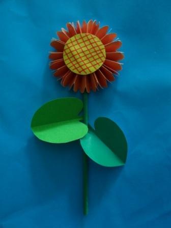 Оригами цветы для начинающих - Подсолнух (2)