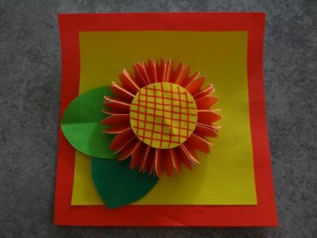 Оригами цветы для начинающих - Подсолнух (1)