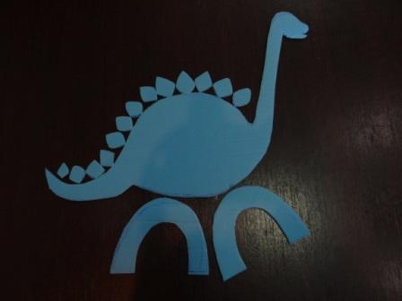 Динозавр из бумаги (5)