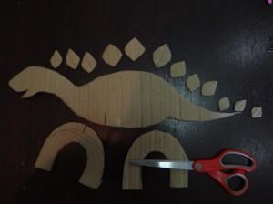Динозавр из бумаги (4)