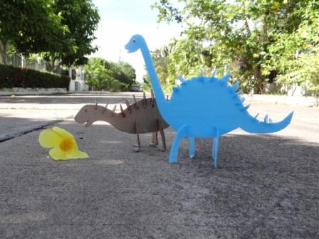 Динозавр из бумаги (1)