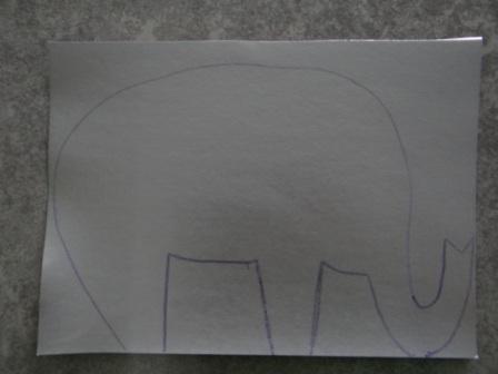 Объемная поделка из бумаги - Слон своими руками (7)