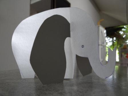 Объемная поделка из бумаги - Слон своими руками (4)
