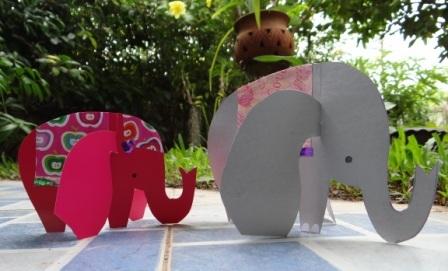 Объемная поделка из бумаги - Слон своими руками (3)