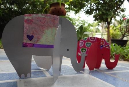 Объемная поделка из бумаги - Слон своими руками (1)