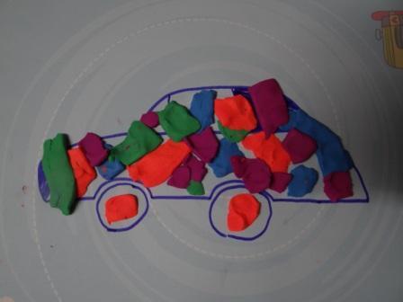 Рисование пластилином для маленьких (2)