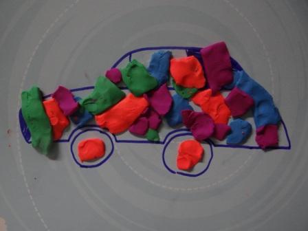 Рисование пластилином для маленьких (1)