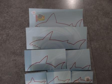 Рисунок акулы - морские трафареты (11)