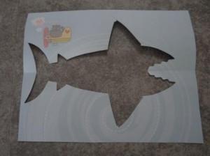 Рисунок акулы - морские трафареты (10)
