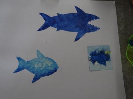 Рисунок акулы - морские трафареты (8)